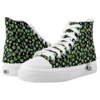 Zipz Interchangeable Black Green St. Patrick's Day High-Top Sneakers