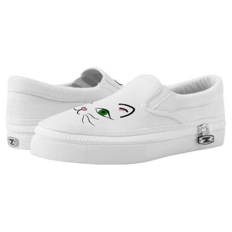 Zipz Slip On Shoes - Kitty Face