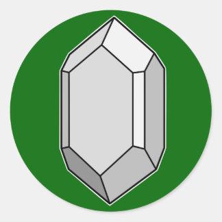 Zircon Classic Round Sticker