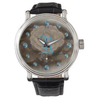 Zircon subió y azul de B&W Relojes De Pulsera