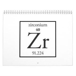Zirconium Wall Calendars