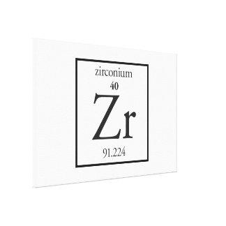 Zirconium Canvas Print