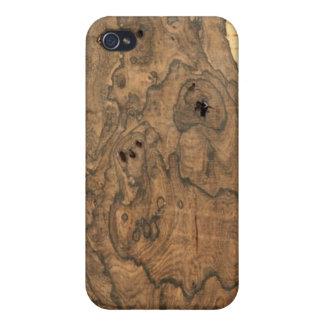 Ziricote (faux) Finish  Case For iPhone 4