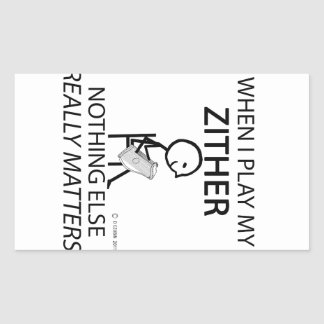 Zither Nothing Else Matters Rectangular Sticker