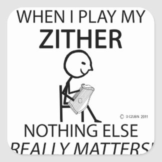 Zither Nothing Else Matters Square Sticker