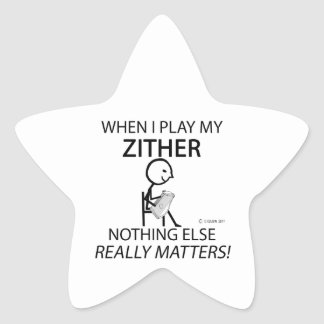 Zither Nothing Else Matters Star Sticker