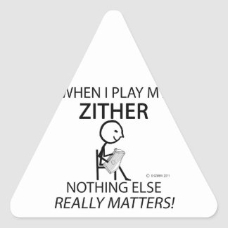 Zither Nothing Else Matters Triangle Sticker