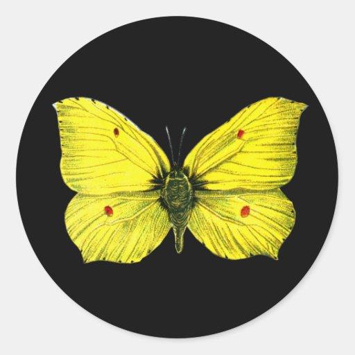 Zitronenfalter Round Stickers