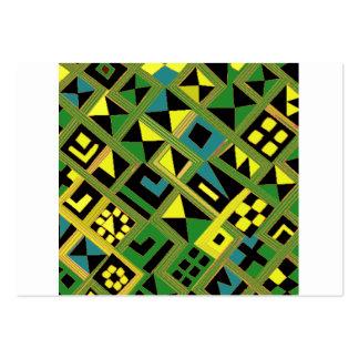 Zizzag greenish lines with random pattern business card