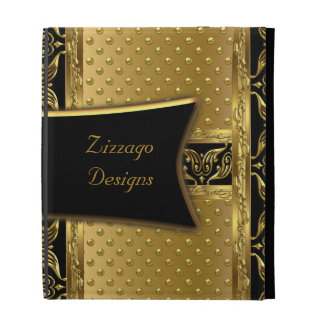 Zizzago Ipad Case Gold Spot Gold Black