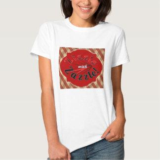 """""""Zizzle con la camiseta roja de Zazzle"""" Poleras"""