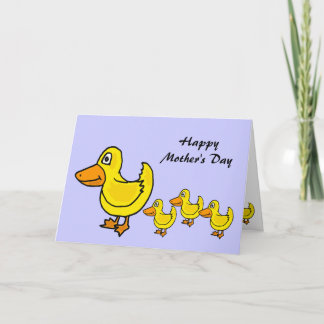 ZJ- Ducks in a Row Mother's Day Card
