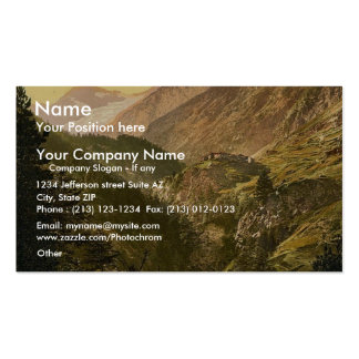 Zmutt Valley glacier in background Valais Allps Business Card Template