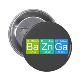 ¡Zn GA de los vagos Botón de los elementos de tab Pins