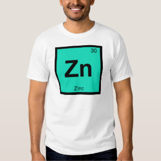 Zn - Zinc Chemistry Periodic Table Symbol Element Tshirts