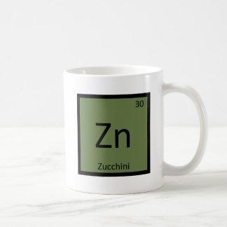 Zn - Zucchini Vegetable Chemistry Periodic Table Classic White Coffee Mug