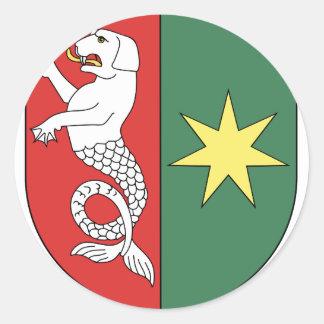 Znak de Bezdekov (okres Havlíckuv Brod) Pegatina Redonda