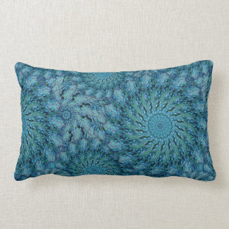 Zoa Coral in Peacock Colors Lumbar Pillow