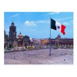 Zocalo, Ciudad de México, México Tarjeta Postal