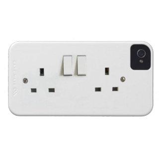 Zócalo eléctrico del Reino Unido iPhone 4 Cárcasa