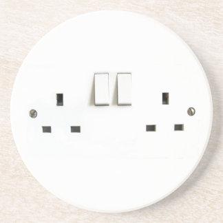 Zócalo eléctrico del Reino Unido Posavasos Diseño
