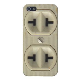 Zócalo eléctrico del vintage iPhone 5 fundas