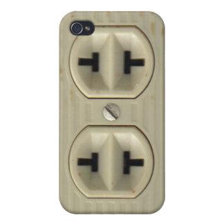 Zócalo eléctrico del vintage iPhone 4 coberturas