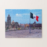 "Zocalo, Mexico City, Mexico Jigsaw Puzzle<br><div class=""desc"">Zocalo,  Mexico City,  Mexico</div>"