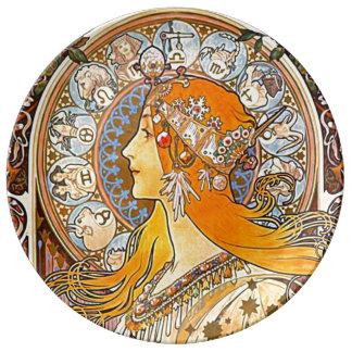Zodiac 1896 porcelain plate