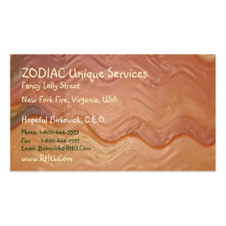 ZODIAC + all Zodiac Symbols on back Business Card