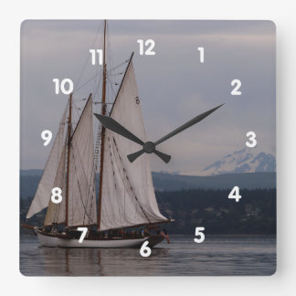 Zodiac and Mt. Baker Square Wall Clock