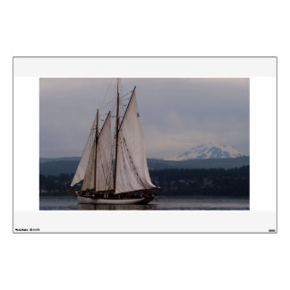 Zodiac and Mt Baker Wall Decal