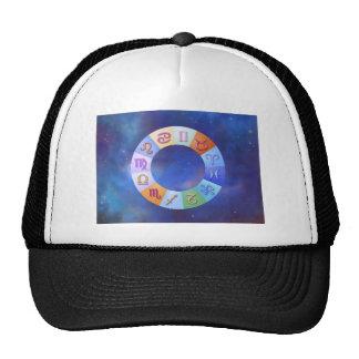Zodiac Aqua Ring in Space Trucker Hat