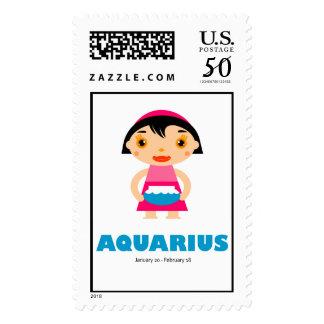 Zodiac Aquarius for Kids Postage