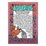 Zodiac - Aquarius Fun Facts Greeting Cards
