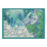 Zodiac Aquarius greetings card