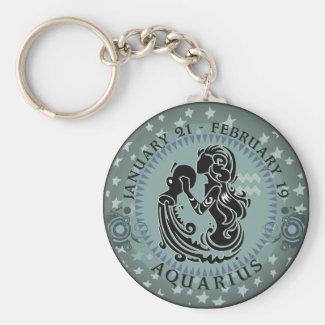 Zodiac Aquarius Keychain