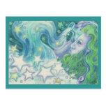 Zodiac Aquarius postcard
