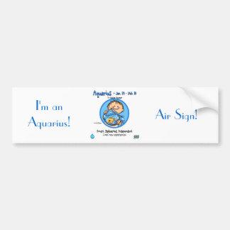 Zodiac - Aquarius Sign Bumper Sticker
