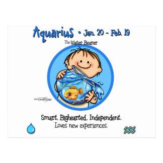 Zodiac - Aquarius Sign Postcard