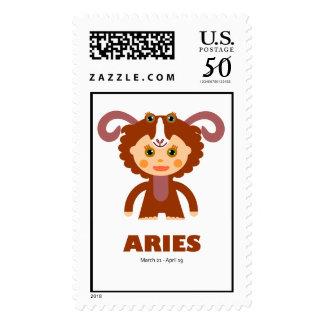 Zodiac Aries for Kids Postage