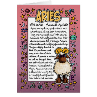 Zodiac - Aries Fun Facts Card