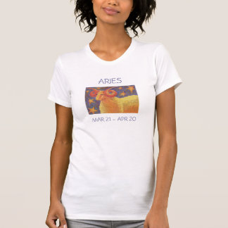 Zodiac Aries t-shirt ladies text