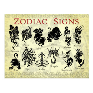 Zodiac (Astrological) signs Postcard