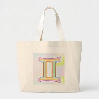 Zodiac Astrology Gemini Greetings Tote Bag