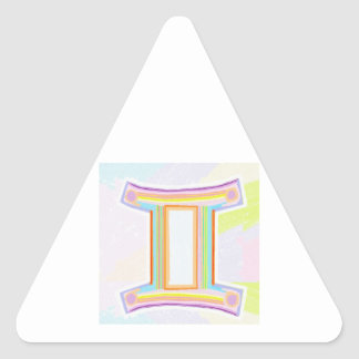 Zodiac Astrology Gemini Greetings Triangle Sticker