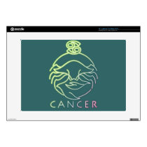 "Zodiac, astrology signs-Cancer 15"" Laptop Decals"
