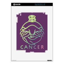 Zodiac, astrology signs-Cancer Decal For iPad 2