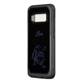 Zodiac Astrology Sun Sign Leo Steel Blue Black OtterBox Commuter Samsung Galaxy S8 Case