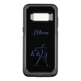Zodiac Astrology Sun Sign Libra Steel Blue Black OtterBox Commuter Samsung Galaxy S8 Case